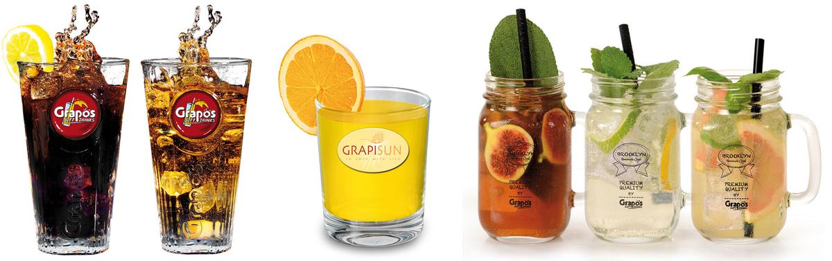 Grapos üdítõitalok, limonádék, gyümölcslevek